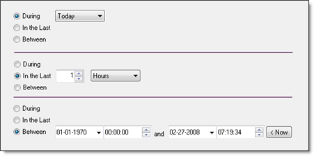 Specifying relative times for finding files